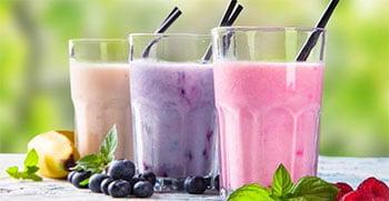 koolhydraat arme frambozen smoothie