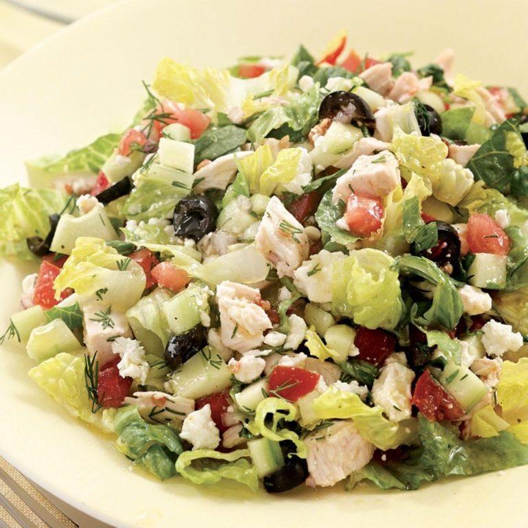 Koolhydraatarm dieet Romeinse salade met kip