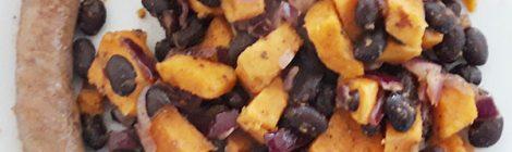 Zoete aardappelschotel